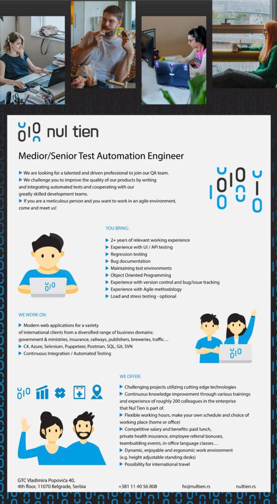 medior/senior test automation engineer